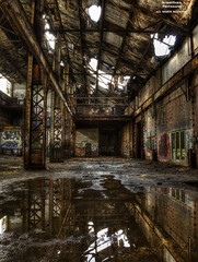 Taking In The Scenery ( Version 2 ) (DetroitDerek Photography ( ALL RIGHTS RESERVED )) Tags: allrightsreserved 313 detroit motown urbex abandoned closed dilapidated globe manufacturing industrial boat ship building factory henryford inside interior urban downtown michigan economy detroitderek reflection water 2017 january archive canon 5d mkii digital eos hdr 3exp urbandecay decay motorcity