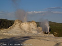 Castle Geyser and Beehive Geyser (Annes Travels) Tags: yellowstone wyoming uppergeyserbasin geysers geothermal