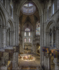 Ely Cathedral 16 (Darwinsgift) Tags: ely cathedral cambridgeshire interior architecture hdr photomatix pce nikkor 24mm f35 tilt shift photostich church ngc