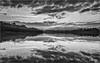 Lago delle Grazie - Tolentino (MC) (Luigi Alesi) Tags: marche tolentino italia italy macerata lago delle grazie lake cielo sky nuvole clouds riflesso reflections mirror paesaggio scenery natura nature bw bn bianco nero black white nikon d750 raw landscape