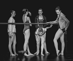 Before the Show (Photo Alan) Tags: girls ballet dance dancer show performance people blackwhite black dancing stage indoor vancouver canada monocromo