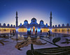 Picturesque place (Kari Siren) Tags: mosque interior picturesque evening light abu dhabi moon sony samyang 8mm a55 fisheye wow