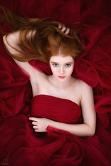 Sea of Red ({jessica drossin}) Tags: jessicadrossin woman redhead redhair red dress naturallight beautiful beauty fashion wwwjessicadrossincom