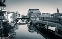 North Kensington-2.jpg (Colin Dorey) Tags: reflection water bw blackwhite monochrome blackandwhite kensington rbkc kensingtonchelsea london uk ladbrokegrove northkensington january 2017 winter canal building architecture structure