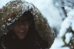Amanda (pt. 3) (Joshua G. Lam) Tags: vancouver burnaby canada snow snowing winter wintersolstice christmas new year trees tree amanda friend snowflakes bc britishcolumbia nature nikond7000 52 project exploration