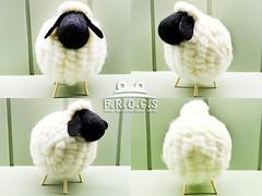 F.R.O.G.S AA0043手工手作羊毛氈黑臉白身羊咩咩飾品絨毛玩具交換禮物創意禮物生日禮物-大07