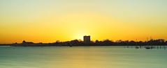 Castle Sunset (Solent Poster) Tags: portchester castle pentax 2470mm k1 seascape long exposure le sunset sunrise