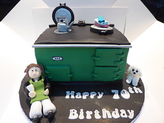 Aga cake (Victorious_Sponge) Tags: aga birthday cake 70th 60th 50th green kettle cooker