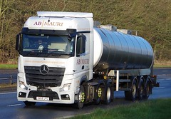 MB Actros - AB MAURI Hull East Yorks. (scotrailm 63A) Tags: lorries trucks tankers