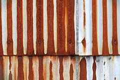 Bumpy (YIP2) Tags: old vintage barn line lines repetition abstract simple minimal minimalism wall surface rusty rust
