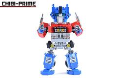 4. Chibi-Prime Matrix (Sam.C MOCs (S2 Studios)) Tags: lego transformers optimus prime chibi moc mech robot anime scifi car truck
