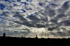 Sky Naaldwijk (ariejanD) Tags: skycloudssun sky clouds sun skyline