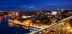 Portugal (Yann OG) Tags: portugal portugais porto panorama panoramique panoramic cityscape nuit night heurebleue bluehour pont bridge sunset coucherdesoleil douro pontededluis river fleuve crépuscule dusk poselongue longexposure sigma30mm ville architecture