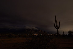 sOLACE sOUGHT iN a sONORAN sTORM 49 (wNG555) Tags: 2017 apachejunction apachetrail superstitionmountain superstitionwilderness desert cactus nightscape storm clouds rokinon14mmf28 arizona phoenix