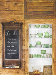 Rustic Chalkboard & Pantry (Heath & the B.L.T. boys) Tags: rustic wood shelves pantry chalkboard