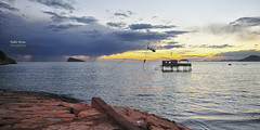 (132/17) El final de la tormenta (Pablo Arias) Tags: pabloarias photoshop nxd cielo nubes españa isla tormenta mar agua mediterráneo rocas benidorm alicante comunidadvalenciana