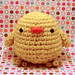 Amigurumi Yellow Chickie Bird