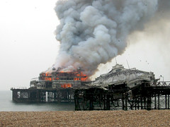 Brighton West Pier on fire (jason.l.ryan) Tags: west fire pier brighton westpier interestingness135 i500 jasonryan