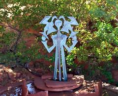 Statue - Fountain (G0Da) Tags: 20d fountain birds statue canon cross redrock