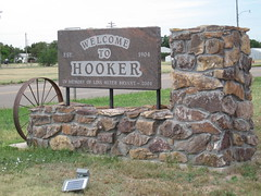 Welcome to Hooker (funny strange or funny ha ha) Tags: oklahoma sign america town small hwy welcome ok hooker 54 73945