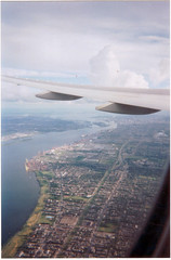 Montreal, as seen from the air. (Steve Brandon) Tags: city canada airplane quebec montreal ville dorval   dorvalairport cyul montrealinternationalairports pierreelliotttrudeauinternationalairport  groundtexture