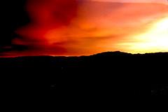 Sunset over Las Vegas valley, Las Vegas, NV