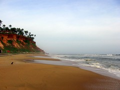 Varkala, Kerala, India (Pheone) Tags: sea sky india beach nature water sand kerala varkala