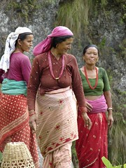 Women on the Seti River in Pokhara, Nepal (Brian A Petersen) Tags: world pink nepal rock catchycolors women basket brian culture missionary third bp hindu missions pokhara 3rd petersen portfolio10 bpbp setiriver brianpetersen brianapetersen