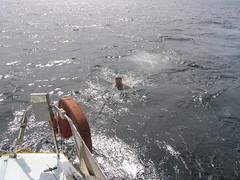 Man Overboard! (Pat Rioux) Tags: barcelona people sailboat circus staff artists acrobats cirque cirquedusoleil dralion aroundtheworld europeantour