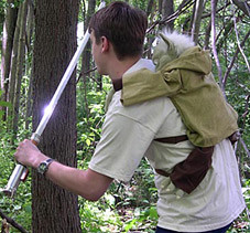 jedi temple hiking in real life -- buy a yoda backpack