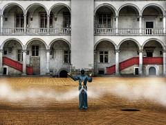 (dElay) Tags: leica castle photoshop lumix delay poland wawel symmetry krakw cracow krakoff hdart