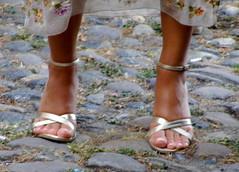 Golden Livia (pucci.it) Tags: feet gold shoes sandals tan