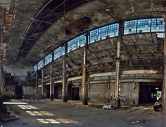 Globe Trading Company (O Caritas) Tags: autostitch panorama abandoned composite michigan detroit warehouse nikoncoolpix8800 detroitsafarigroup globetradingcompany exposuredetroit