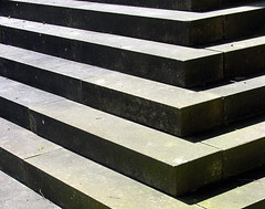 Light and shadows (:Linda:) Tags: shadow stone germany bavaria stair pattern village five franconia row symmetry line edge symmetrical schatten madeofstone nobw gollmuthausen aussteingemacht gegenstandausstein