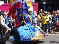 Pride blue dress (Gampertron) Tags: drag pride bluedress