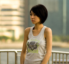 Nancy Woo ? (Shanghai Sky) Tags: cute skinny tanktop nancywoo