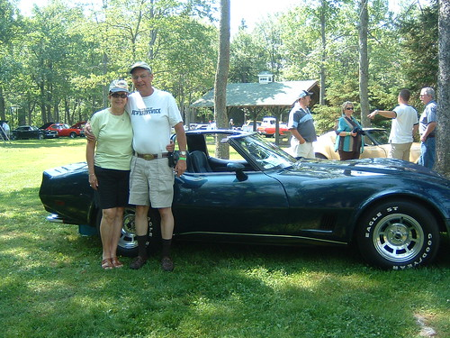 John and Jean Johnston pose with their 1980 coupe