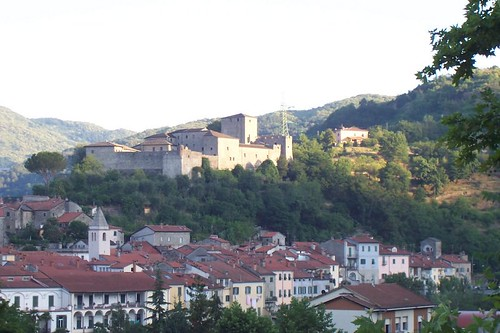 Dawn on Pontremoli Castle