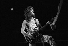 Eddie Van Halen and a roll of toilet paper 1982 (Taylor Player) Tags: people musicians portraits paper photography 1 performance performingarts guitars americans males northamericans prominentpersons whites concerts eddievanhalen van toiletpaper adults halen guitarists vanhalen musicalinstruments blackandwhitephotography stringedinstruments musicalperformances musicalinstrumentplaying electricguitars
