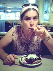 me eating funnel cake