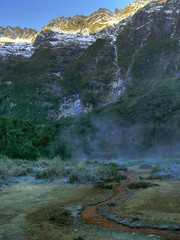 Welcome Flat morning (katepedley) Tags: new newzealand mountains nationalpark panasonic zealand nz southisland westland fz30 greatwalk hotpools coplandtrack westcoastnz photomatix tonemapped tonemapping welcomeflat taipoutini nz101southwestland