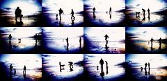 brighton beach montage (lomokev) Tags: sunset sky people dog black reflection beach silhouette lomo xpro crossprocessed xprocess sand brighton purple lomolca montage agfa jessops100asaslidefilm agfaprecisa hag kageyb agfaprecisa100 cruzando precisa  deletetag jessopsslidefilm flickr:user=kageyb
