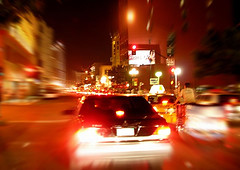 night life in motion (Kris Kros) Tags: california ca usa motion public car bike bicycle night lights evening cool nikon san pix downtown nightshot sandiego tricycle diego kris biker nightlife jjj kkg zoomblur kros kriskros nonhdr kk2k kkgallery