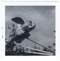 Mom, 1964 (dogwelder) Tags: family blackandwhite mom geotagged disneyland dumbo amusementpark oldpictures zurbulon6 1964 zurbulon gatturphy geo:lat=33813607 geo:lon=117918934