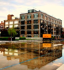 Minneapolis Warehouse District (Tony Webster) Tags: sunset favorite reflection building water minnesota skyline architecture design structures minneapolis warehousedistrict historical renovation hennepin diversey northloop minneapoliswarehousedistrict minneapolisnorthloop deletethistag cgb1506 crv1523