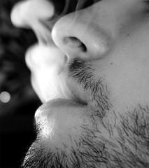 Humo (DavidGorgojo) Tags: bw mouth smoke bn boca fumar humo 100club 50club