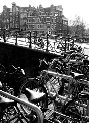 Brouwersgracht (ClydeHouse) Tags: bridge bw amsterdam bicycle canal brug fiets gracht brouwersgracht byandrew