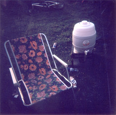 day break (George Pollard) Tags: camping beer dawn holga chair bmx fosters relief stagdo daybreak porlock frijj 2ndjuly cfn madeit