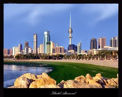 Landscape from kuwait city (khalid almasoud) Tags: world new city tower beach buildings landscape this was freedom is nikon gallery all near cities some taken it essential contact kuwait middle khalid between 8800 5photosaday alshwaik almasoud