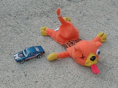 Road Kill (UnoLobo) Tags: road blue cats hot cars animal animals trash cat dead fun outside toys blood stuffed kitten funny kill tail wheels cement kitty fast x plush whiskers helicopter firebird tounge mattel 2pair